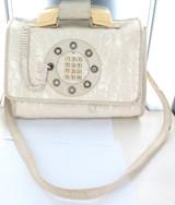 SCARCE c1970s COMBINATION TELEPHONE & LARGE SHOULDER BAG + ORIGINAL TAG.