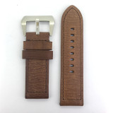 BRAND NEW HEAVY DUTY CHOCOLATE BROWN GENUINE LEATHER 26MM BAND
