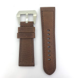 BRAND NEW HEAVY DUTY CHOCOLATE BROWN GENUINE LEATHER TAPERING 26MM BAND