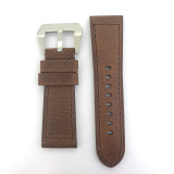 BRAND NEW HEAVY DUTY CHOCOLATE BROWN GENUINE LEATHER TAPERING 24MM BAND #E