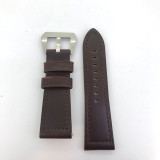 BRAND NEW HEAVY DUTY DARK BROWN GENUINE LEATHER TAPERING 24MM BAND #L