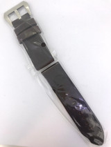BRAND NEW HEAVY DUTY DARK BROWN GENUINE LEATHER 24MM BAND #O