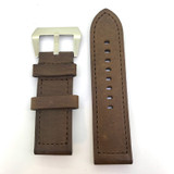 BRAND NEW HEAVY DUTY COFFEE BROWN GENUINE LEATHER 26MM BAND