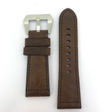 BRAND NEW HEAVY DUTY COFFEE BROWN GENUINE LEATHER TAPERING 26MM BAND