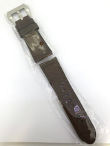 BRAND NEW HEAVY DUTY COFFEE BROWN GENUINE LEATHER TAPERING 24MM BAND # H