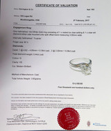 0.44ct Diamond G VS 14k gold Ladies Solitare Dress Ring Val $4100