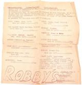 "RARE c1950s BRISBANE GROCERY STORE FLYER ""ROBBY'S"" MOOROOKA ANNERLEY ETC"