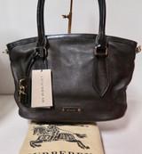 Burberry London Grainy Leather Medium Newfield Chocolate Tote Bag