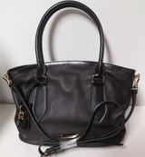 Burberry London Grainy Leather Medium Newfield Chocolate Tote Bag