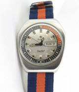 "1970'S ZODIAC SEA WOLF SST High Beat 3600 ""COFFIN CASE"" DIVER WRISTWATCH"