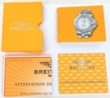 "BREITLING "" COLT OCEANE II "" DIAMOND REF. A7738053 INSTRUCTIONS + CERT ETC"