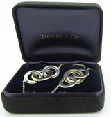 Tiffany & Co 1837 Interlocking Circle Necklace Sterling Silver & Rubedo