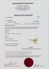 14CT YELLOW GOLD & SOLITAIRE DIAMOND RING VAL $2190