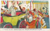 "1914 SCARCE COMICAL ""JUST ARRIVED AT ROCKHAMPTON"" POSTCARD."