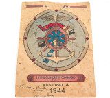 RARE 1944 WW2 SHIP & GUN CREW COMMAND No1 EPHEMERA
