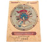 RARE 1944 WW2 SHIP & GUN CREW COMMAND No1 EPHEMERA