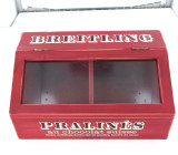 "BREITLING PROMOTIONAL WOODEN ""PRALINES"" CHOCOLATE BOX. HARD TO GET IN AUSTRALIA"