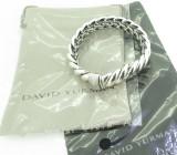 Auth David Yurman Hampton Bracelet Diamond 0.40cts Set Silver 925 R.R $2950usd