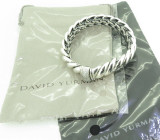 Auth David Yurman Hampton Bracelet Diamond 0.40cts Set Silver 925 R.R $2950usd