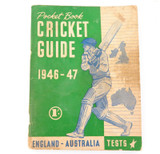 SCARCE 1946 - 47 ASHES PRE TOUR GUIDE. ENGLAND - AUSTRALIA.
