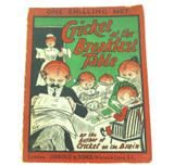 "1909 RARE HUMOROUS CRICKET BOOK ""CRICKET AT THE BREAKFAST TABLE""."