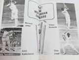 SCARCE 1975 SOUVENIR PROGRAMME. WEST INDIES v ACT & SOUTHERN NSW XI