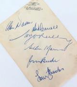 1950s 6 x NSW CRICKETERS SIGNATURES. ARTHUR MORRIS, JIM BURKE, WALKER, CARROLL