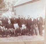 c1880 RARE AUSTRALIAN CRICKET GROUP PHOTO. GEELONG, BROWN & GOLD TEAMS ?