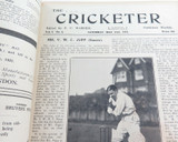 """1921 THE CRICKETER"" EDITED P F WARNER + ""1921-22 THE CRICKETER WINTER ANNUAL""."