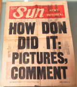 "CRICKET. EXCEEDINGLY RARE. 1946 DON BRADMAN NEWSPAPER HOARDING ""HOW DON DID IT""."