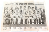 """""""THE SPORTING GLOBE"""" SUPPLEMENT 25/10/1950. ENGLAND'S CRICKET TEAM TO AUSTRALIA."""