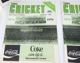 1970s SCARE LOT ! 5 x 'GABBA CRICKET PROGRAMMES. SHEFFIELD SHIELD & TOUR MATCHES