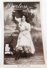 "RARE EARLY 1900s ""PEERLESS HOSIERY, AUSTRALIAN WOOL"" REAL PHOTO POSTCARD. #1"