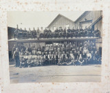 SUPER RARE / POSSIBLY UNIQUE c1923 BRISBANE TRAMWAY WORKSHOP STAFF LARGE PHOTO.