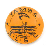 RARE c1940s YAMBA SURF LIFE SAVING CLUB TIN BADGE BUTTON. FREE POST IN AUSTRALIA
