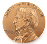 "1967 WILLIAM H SEWARD ""NORTH TO THE FUTURE"" ALASKA PURCHASE CENTENARY MEDALLION."