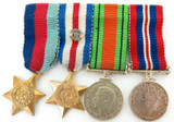 A GOOD WW2 GROUPING. # MX 93271 E. F. B. LUTMAN ROYAL NAVY. MEDALS, PAPERS ETC.