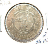 1897 SOUTH AFRICA 2 SHILLINGS SILVER COIN.