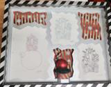 Signed Disney Nightmare Before Christmas Three Sketch Framed Storyboard Artwork