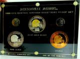 RARE / LIMITED EDITION 1998 JACKSONVILLE JAGUARS MEDAL PROOF SET. GOLD & SILVER.