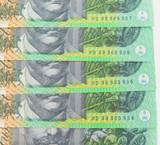1996 UNC R616 9 x $100 CONSECUTIVE RUNNING NOTES. FRASER / EVANS. HD 96 PREFIX.
