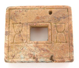 c 770 BC - 256 BC CHINA EASTERN ZHOU DYNASTY BROWN JADE AMULET / MONEY.