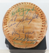 BASEBALL CERTIFIED 23 SIGNATURES HOF MEDWICK, MIZE, APPLING, LOPEZ, SEWELL ETC