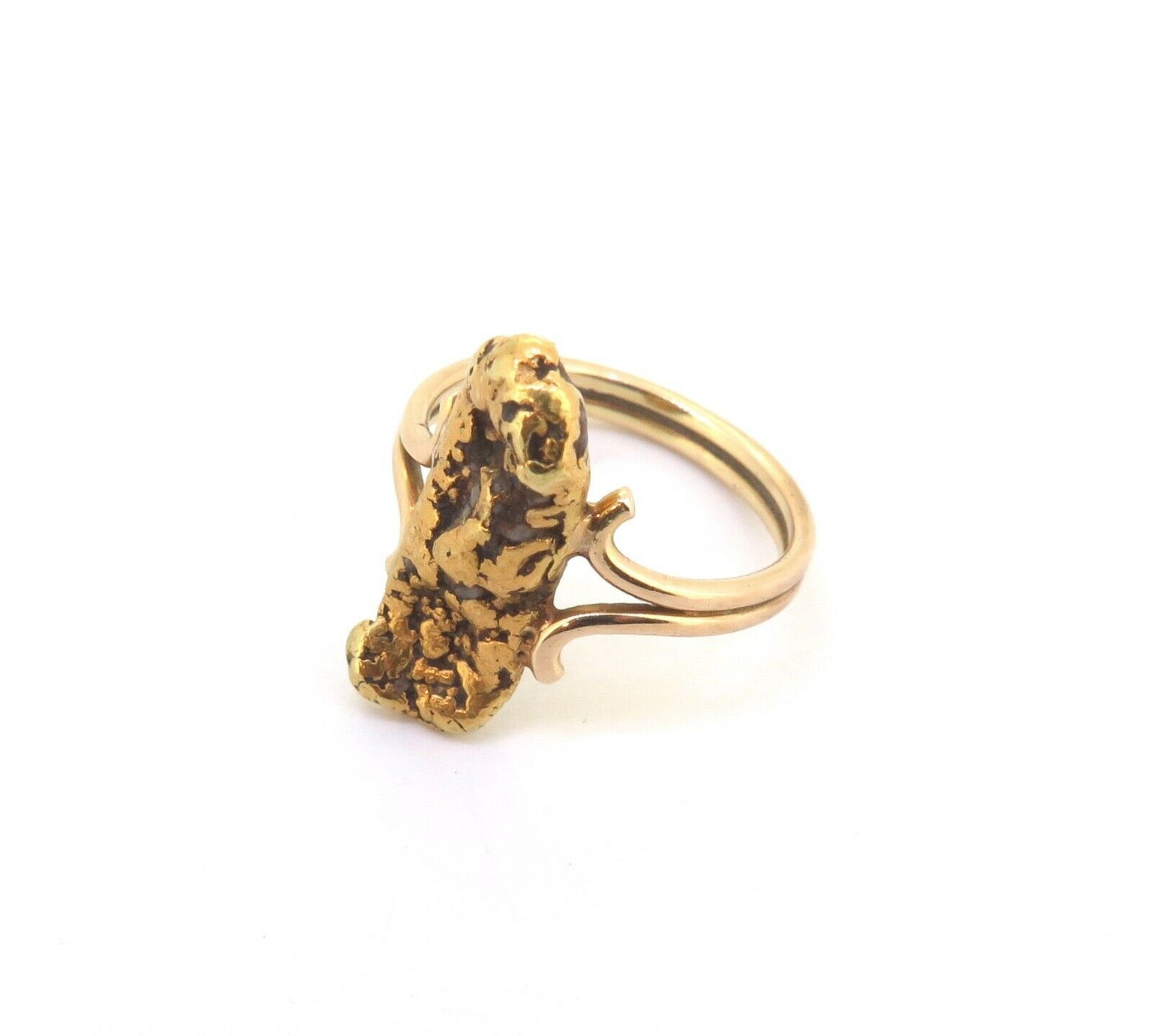 Antique Collectable 22ct Golden Nugget Ring & 18ct Yellow ...