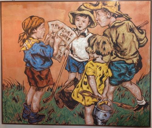 Harrington & Co. DAVID BROMLEY acrylic on linen 180cm x 150