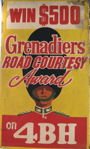 SUPER RARE 1966-1969 BRISBANE TRAM ADVERTISING BOARD, RADIO 4BH WIN $500.