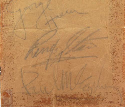 RARE LOT BEATLES MEMORABILIA. SIGNED PHOTO, AUTOGRAPHS FROM THE CAVERN CLUB ETC