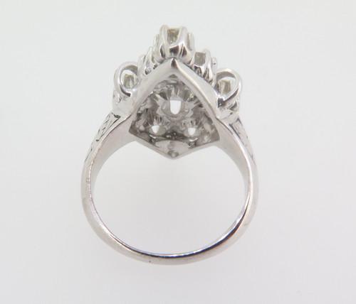Vintage ladies 14k gold 1.17ct VS diamond cluster dress ring Val $5190