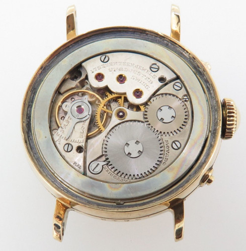 Vintage Movado Triple Date 14k Gold F.B Borgel Mens Wrist Watch