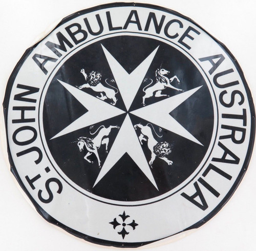 Rare huge vintage St John  Ambulance decal. 29.5cm diameter